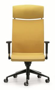 AVIA 4046, Chaise directionnel avec appui-tête et les roues, pour le bureau
