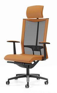 AVIANET 3622, Chaise de bureau directionnel, avec appui-tête