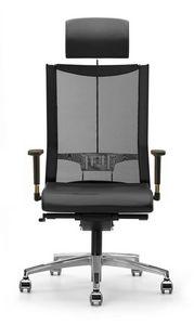 AVIANET 3626, Chaise directionnelle, avec des roues et mesh, pour les bureaux