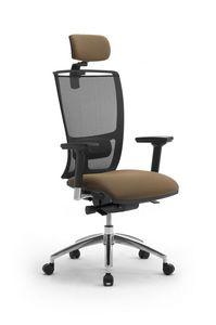 Cometa, Chaise de bureau avec appui-tête, dossier en maille
