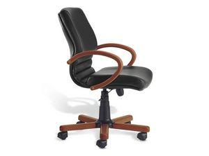 Digital Wood 02, Chaise exécutif, base en bois, pour le bureau