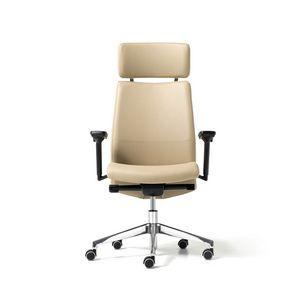 Duke, Directionnel chaise de bureau avec roues, appuis-tête, accoudoirs