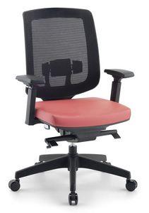 Jack 01, Chaises modernes pour bureaux de direction, avec filet