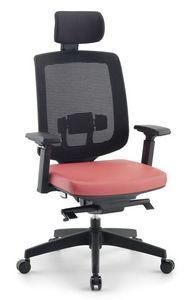 Jack 01 PT, Chaise de bureau directionnel, avec appui-tête