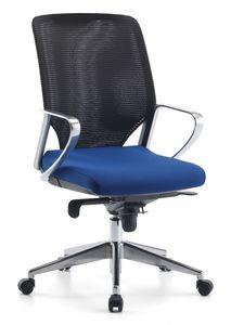 Karian AIR ALU 01, Chaise exécutif, dossier maille, pour le bureau