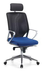 Karina AIR ALU 01 PT, Chaise de bureau directionnel, avec appui-tête