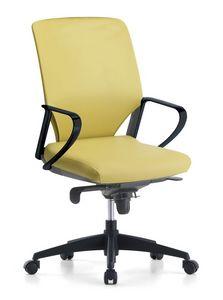 Karina Soft 01, Chaise de bureau directionnel, avec des roues pivotantes