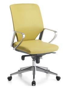 Karina Soft ALU 01, Chaise de bureau directionnel, base avec roues