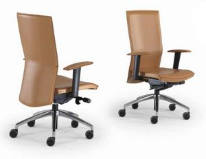 Kelly-PB, Chaise de bureau en cuir