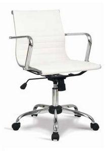 Lab-D, Chaise de bureau avec dossier bas, avec revêtement en cuir