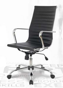 Lab-P, Chaise en cuir de bureau, réglable en hauteur