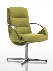 Moon armchair, Chaise de bureau élégant, base pivotante avec 4 courses