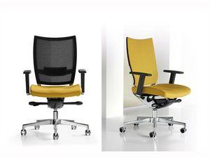 Nest, Chaise réglable, cadre en aluminium, pour le studio professionnel
