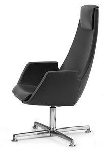 NUBIA 2924, Chaise avec appui-tête, double ligne couture, pour le bureau