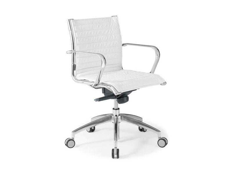 Origami IN executive 70120M, Chaise de bureau en cuir avec structure en acier chromé