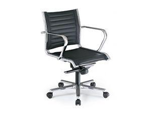 Origami TD executive 70020, Chaise de bureau directionnel, recouvert de cuir