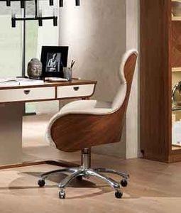 PO59 Cartesio fauteuil, Chaise pivotante pour les bureaux dans un style contemporain et classique