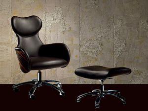 PO33 Cartesio fauteuil, Fauteuil réglable avec une forme élégante, pour le bureau