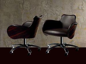 PO34 Cartesio fauteuil, Chaise pivotante sur roulettes, pour Office Professionnel