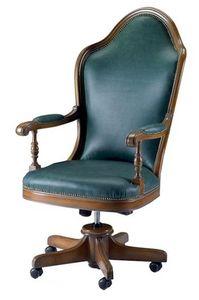 Talla ME.0986, Chaise pivotante à roues, en hêtre, pour les bureaux de luxe