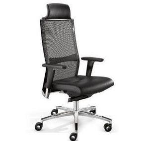 TITANIA 2863, Chaise de bureau exécutif, dossier en maille élastique