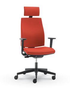 UF 440 / A, Chaise de bureau avec accoudoirs régulation, mousse froide