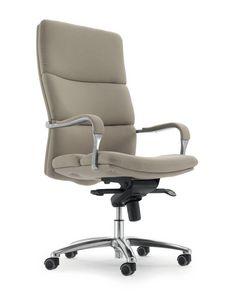 UF 577 / A, Chaise avec des roues pour le bureau, siège ergonomique rembourrée