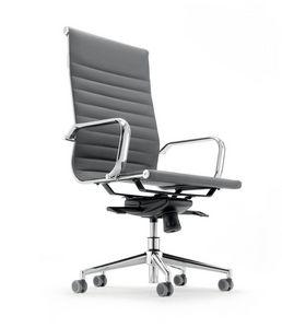 UF 597 / A, Chaise avec dossier haut pour bureau exécutif