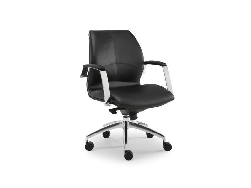 Wave executive 1502, Chaise de bureau exécutif, recouvert de cuir