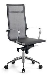 Wind 01, Chaise de bureau avec roues, maille rev�tement autoportant