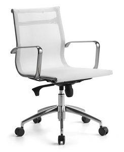 Wind 02, Chaise de gestion pour le bureau sur roues, le mécanisme d'inclinaison