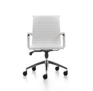 Wind Soft 02, Chaise pivotante pour Office de gestion, en acier chromé
