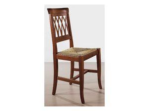 157, Chaise rustique, dos travaillé, pour la zone de vie