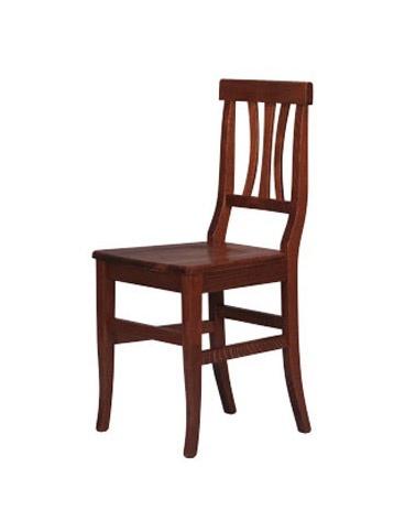 185, Chaise rustique entièrement en bois de hêtre, pour les hôtels
