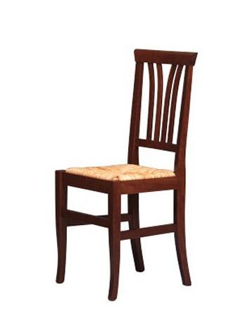 186, Chaise rustique en bois de hêtre, assise paille, pour les bars