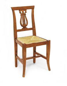 Art. 101, Chaise à décor en forme de harpe