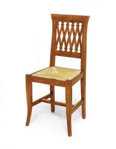 Art. 102, Chaise de style classique avec assise en paille