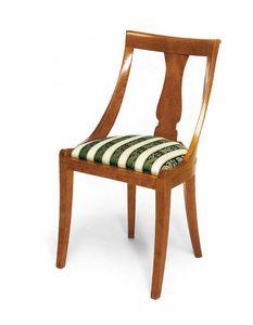 Art. 144, Chaise de style classique avec assise rembourrée confortable