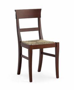 IMPERIALE, Chaise rustique avec paille tressée, pour tavernes
