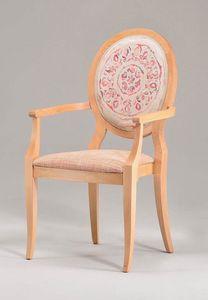S11, Chaise en bois avec accoudoirs