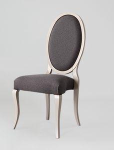 S16, Chaise élégante à dossier ovale