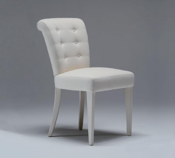 Salle manger chaise enti rement recouvert de tissu for Sedie vestite design