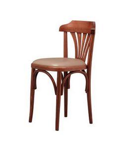 B03, Chaise en hêtre avec siège rembourré, pour bar à vin