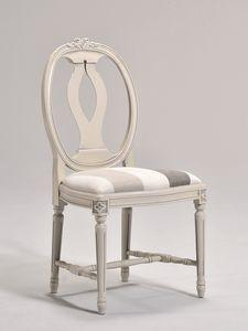 GUSTAVIA chair 8116S, Chaise de style gustavien avec dossier ovale