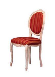 1052, Chaise en bois avec dossier ovale, pour le salon