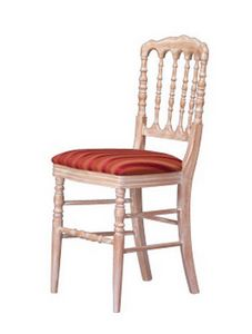 1070, Chaise de salle à manger traditionnelle, a travaillé en arrière, pour Hôtel