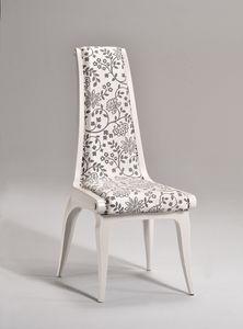 AFRODITE Chaise 8291S, Chaise de style classique, assise et dossier rembourrés