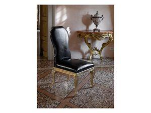 ALICE, Chaise sculptée à la main, tapissé en cuir de crocodile