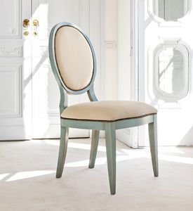 AURIGA Art. 1195, Chaise en bois rembourré, de style vintage, pour le restaurant