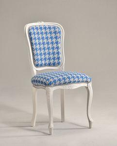 BRIANZOLA chaise 8017S, Chaise de style Louis XV, pour salle de conférence élégante